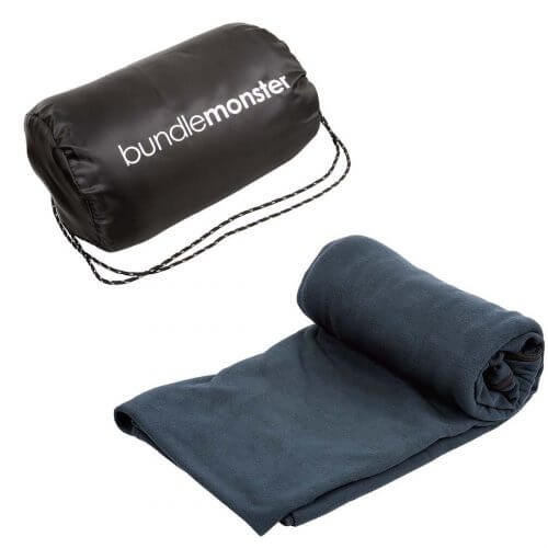One of the best sleeping bag liners in the market: the bundle monster is shown here