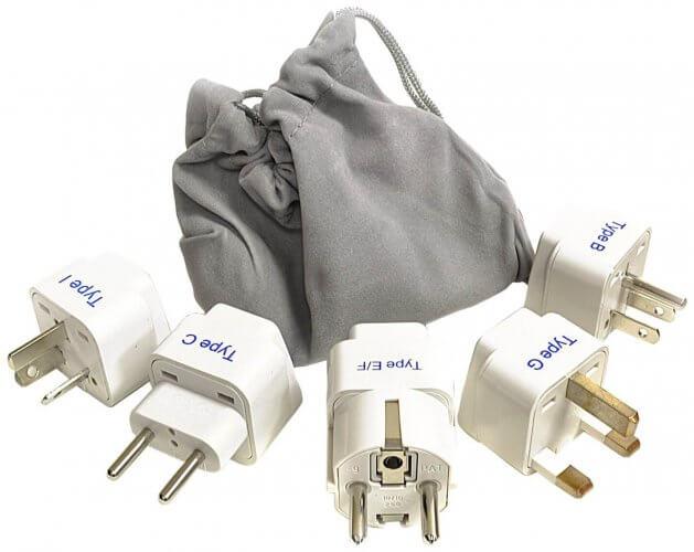 5. Ceptics Adapter Plug Set for World Wide International Travel