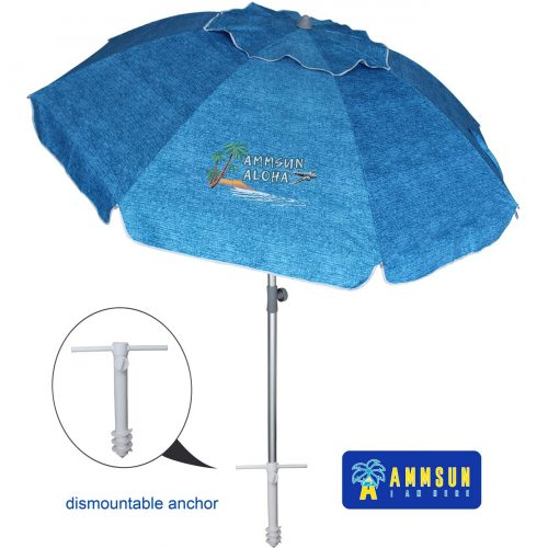 6. AMMSUN Adjustable Beach Umbrella