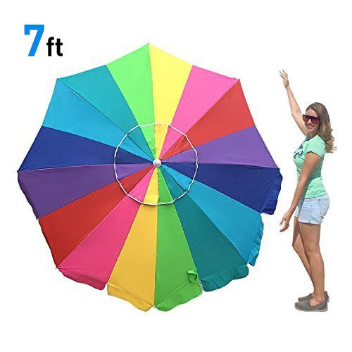 8. EasyGO Rainbow Beach Umbrella