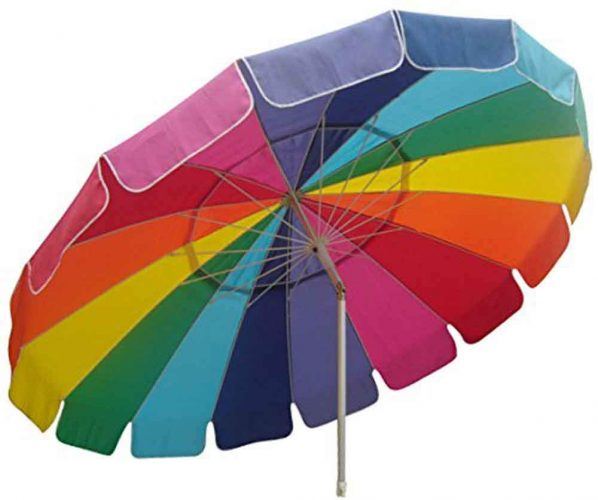 9. Impact Canopy Beach Umbrella with Sand Anchor Auger