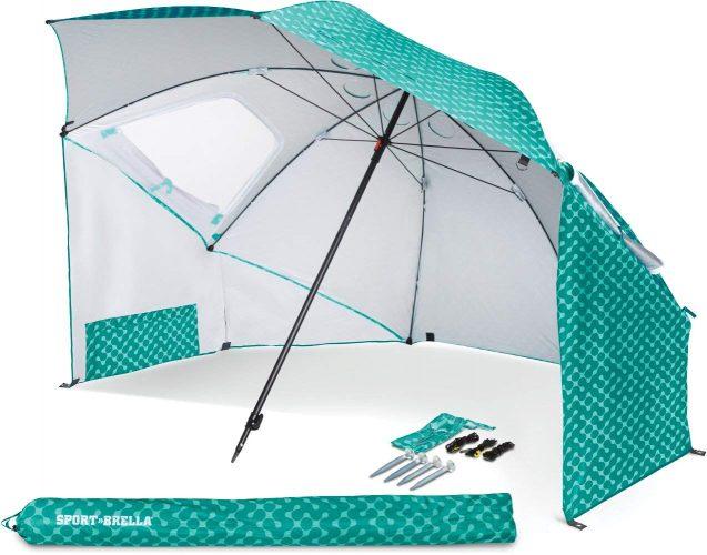 2. Sport-Brella Sun & Rain Canopy Beach Umbrella