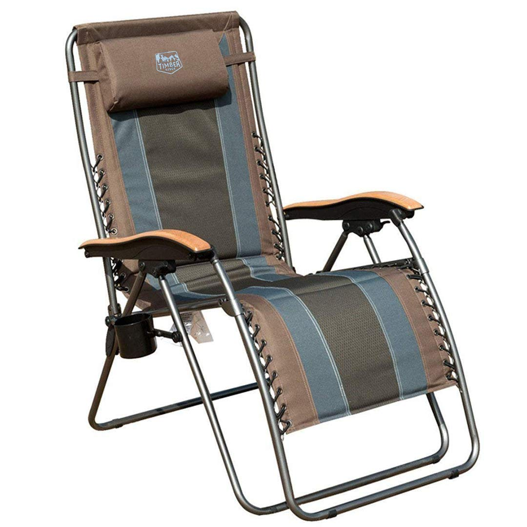 2. Timber Ridge Zero Gravity Outdoor Lounger Chair
