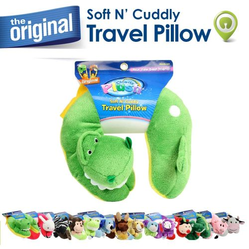 3. Cloudz Plush Animal Neck Pillow