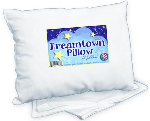 2. Dreamtown Kids Toddler Pillow