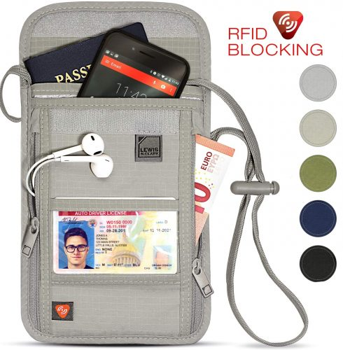 5. Lewis N. Clark RFID Blocking Neck Wallet