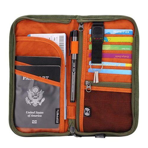 4. Zoppen RFID Documents Organizer & Wallet