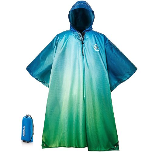 8. FOXELLI HOODED RAIN PONCHO