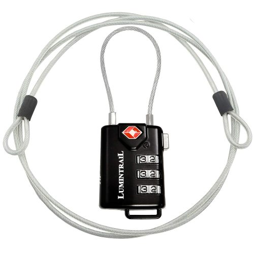 4. Lumintrail TSA Approved Lock & Cable