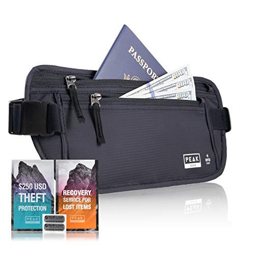 2. Peak Gear Travel Money Belt