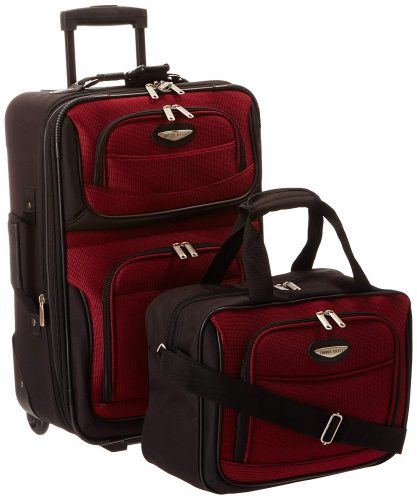 9. Travelers Choice 2 Piece Carry on Luggage Set