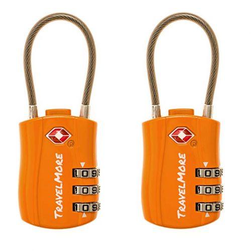 7. TravelMore Combination Luggage Lock