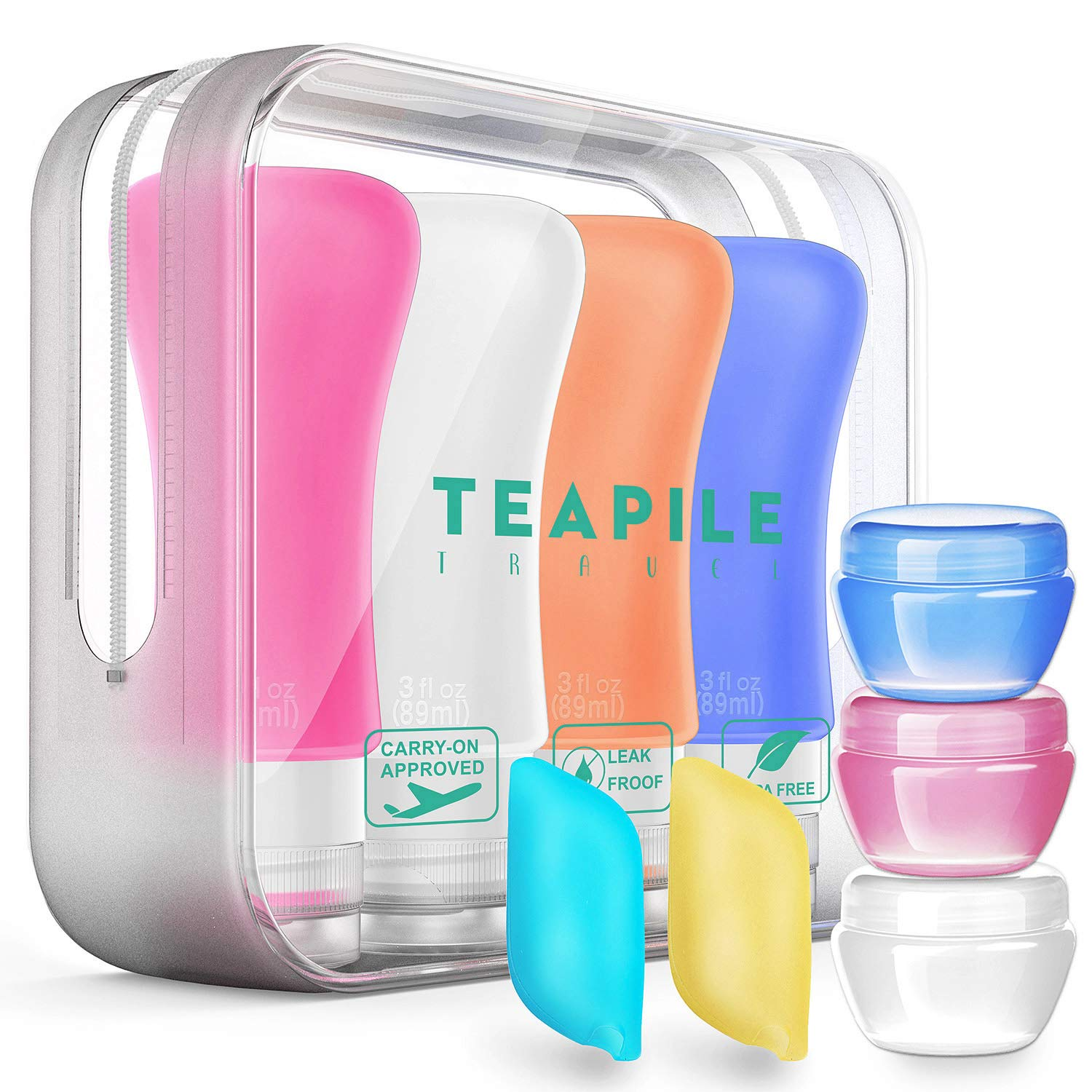 3. Teapile - 9 Pack TSA Approved Containers