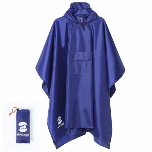 3. SaphiRose Hooded Rain Poncho